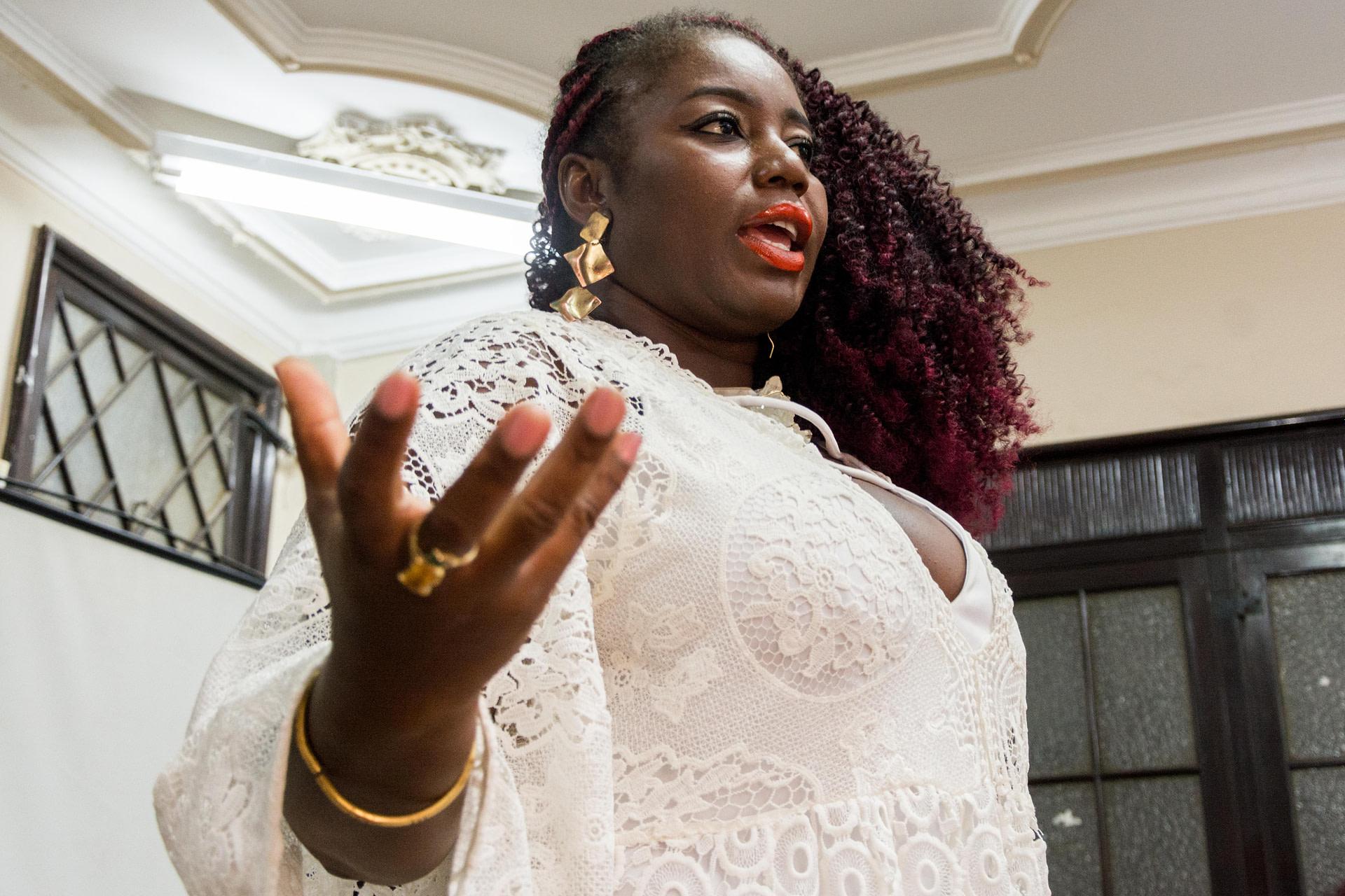 Carla Akotirene em encontro do Lendo Mulheres Negras.