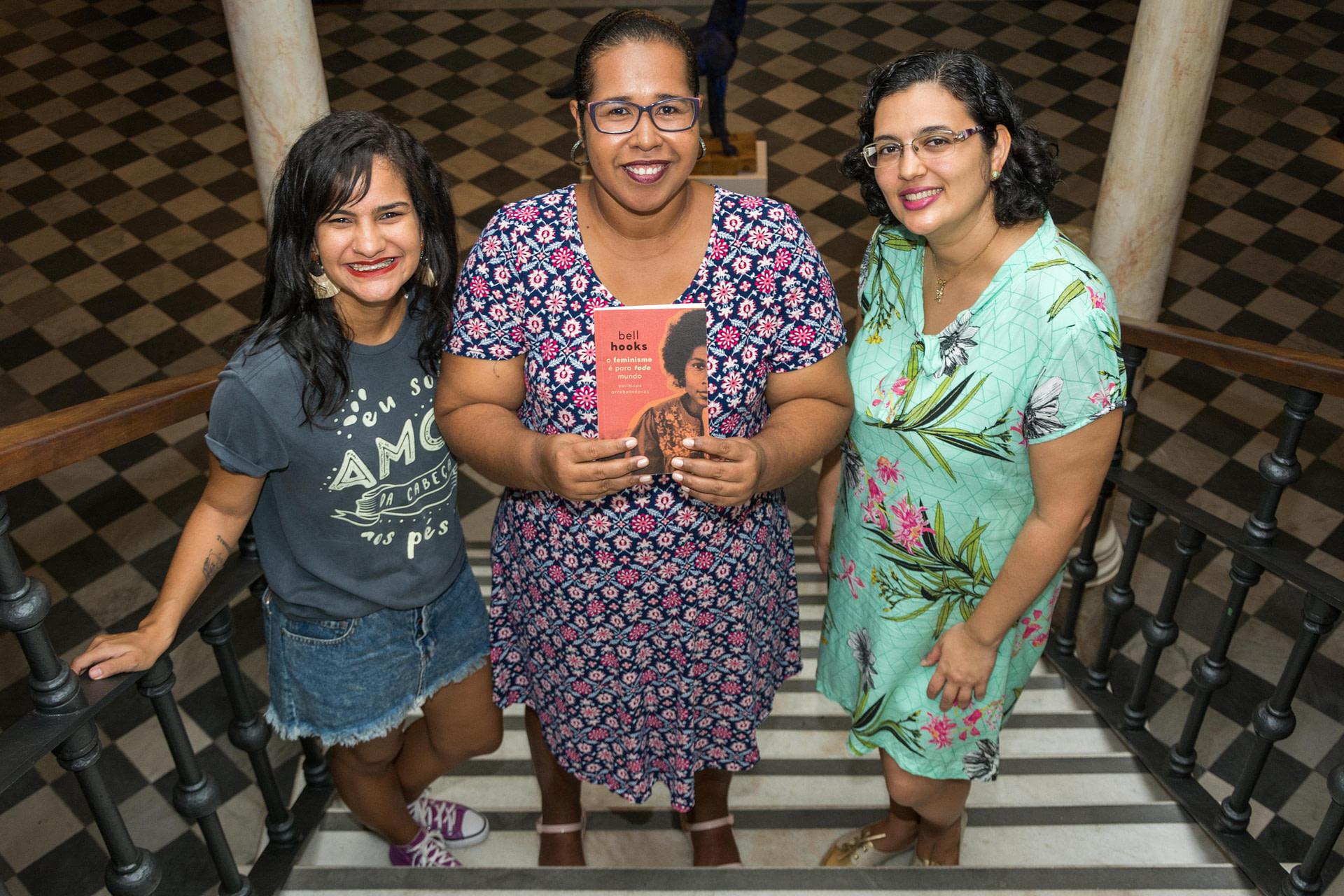 Joana, Ilmara e Glaucia, mediadoras do Leia Mulheres